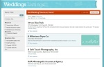 Listing Guide, Weddings